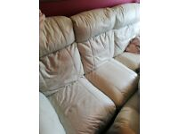 Leather 2 3 piece recliner suite