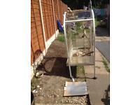 Large white brass bird cage £45