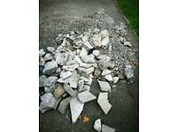 Free gravel and large stones