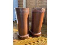 Chimney pot planters - Stylish pair of traditional chimney pots