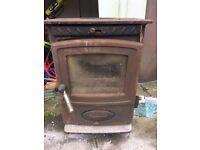 Aarrow Eco-burn multi fuel wood burning stove plus flue