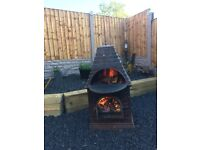Bespoke Country House Cast Iron Chimenea / Log Burner Heavy Item- CAN DELIVER