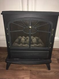 Flueless iron gas fire