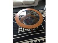 Mid Century Round Coffee Table (broken glass)