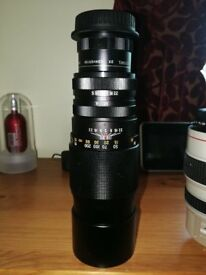 CANON FIT TELEPHOTO LENS 300MM WITH A X 2 CONVERTER GIVING 600MM