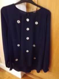Navy Top Size 10