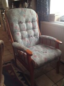 Really comfortable armchair in very good condition.
