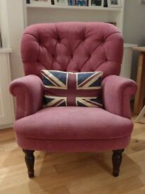 Red Armchair (chenille fabric)