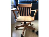 Swivel Desk Chair Pine