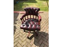 Captains ox-blood leather chair
