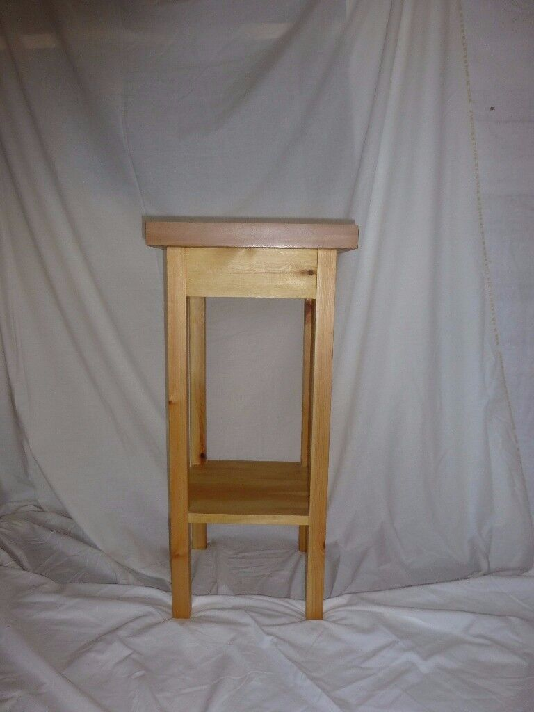 Lovely pine side table / open sided cabinet - perfect for use as a bedside table or in the kitchen