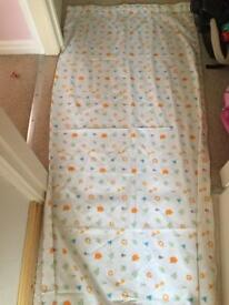 Pair of Mothercare jungle curtains