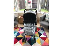 Mothercare Spin Pram, Excellant Condition including Rain Cover and Car Seat Clips