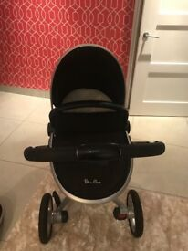 Silver Cross Surf Pram with Carrycot and Car Seat