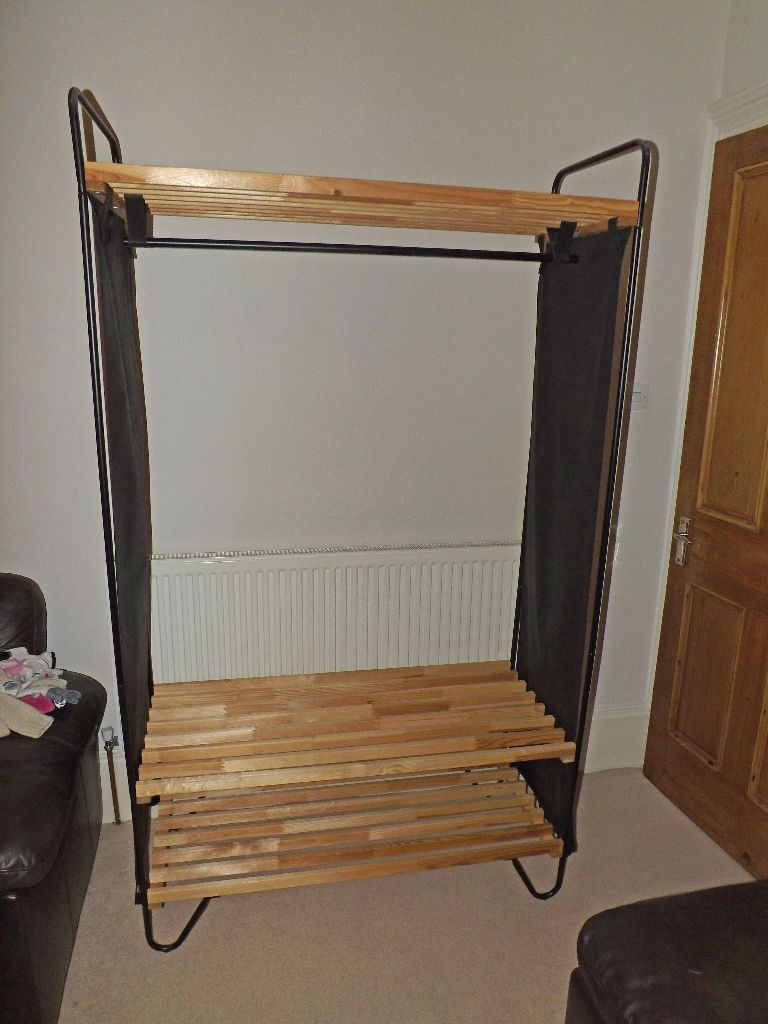 ikea bod wood and canvas wardrobe in queens park glasgow gumtree. Black Bedroom Furniture Sets. Home Design Ideas