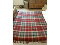 Next red checked lambswool throw