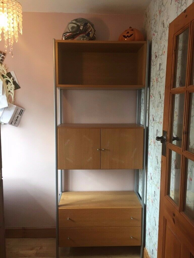 pretty nice ca12a 0a67b Free to a good home - Ikea shelving unit with cupboard and ...