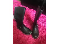 Brand new size 4 ladies boots leather