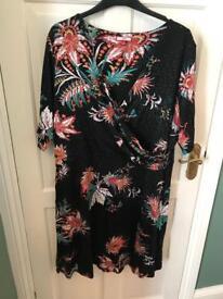 Plus sized patterned dress Joe Browns