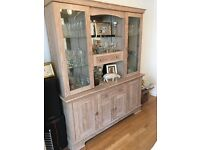 Dining table, Chairs, Dresser, Glass fronted Cupboard