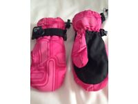 Tog24 Kids Waterproof Mittens. Pink, Small Child 5-8 years.