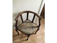 Two antique chairs in excellent condition. Very unusual and a bargain price-first to see will buy