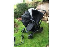 Emmaljunga Viking double pram