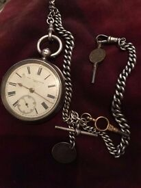 Possible 1800s silver pocket watch