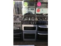 STOVES 50CM ALL GAS COOKER IN SILIVER WITH LID
