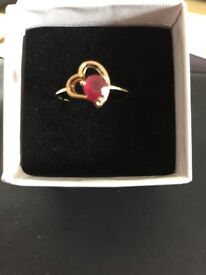 Gold Ruby Ring - new