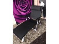 New and Boxed Havana Black Sun Lounger