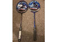 Victor V-3700 Magan Graphite Badminton Racquet - Black/Blue - 89g