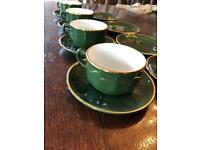 APILCO Coffee cup saucer and plate set of 4
