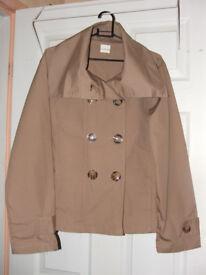 'La Redoute' Beige double-breasted Jacket Size 10/12 – BNWoT