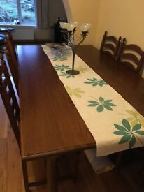 Hand made solid oak table. 109 * 210 cm.