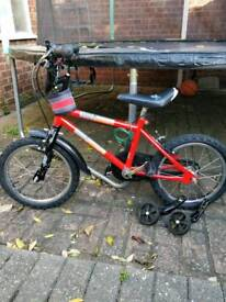 Urban racers kids cycle with stabilisers