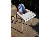 Ikea baby high chair.