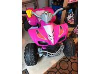 Girls pink battery powerd quad bike