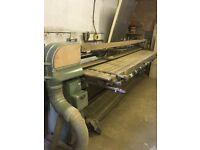 Wadkin 3 phase 12' table Pad sander