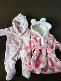 Snowsuit and dressing gown