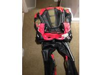 Motorbike 2 piece suit and boots