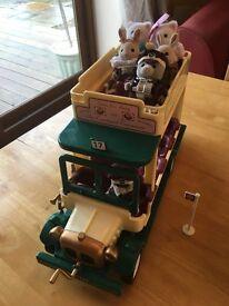 Sylvanian Families Woodland Bus and figures