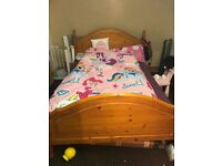 Doubble wooden bed