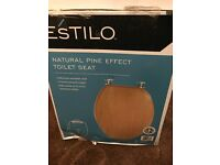 Estilo Natural Toilet Seat - Pine Effect