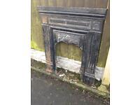cast iron fireplace £45
