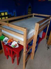 Children's midi sleeper with mattress