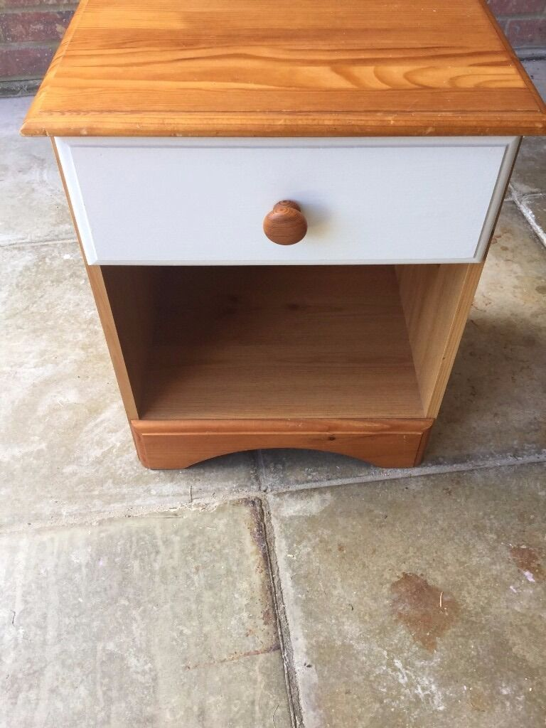 Pine Shabby Chic Bedside Cabinet
