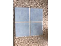 Light Blue tiles in packs of 12 x 13 unused