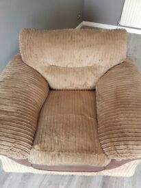 DFS jumbo cord armchair. No rips or tears . Lovely condition