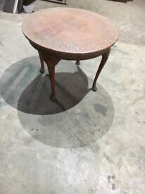 Copper topped table